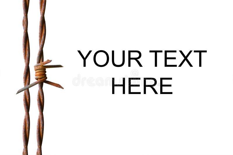 Fondo del alambre de púas rusto stock de ilustración