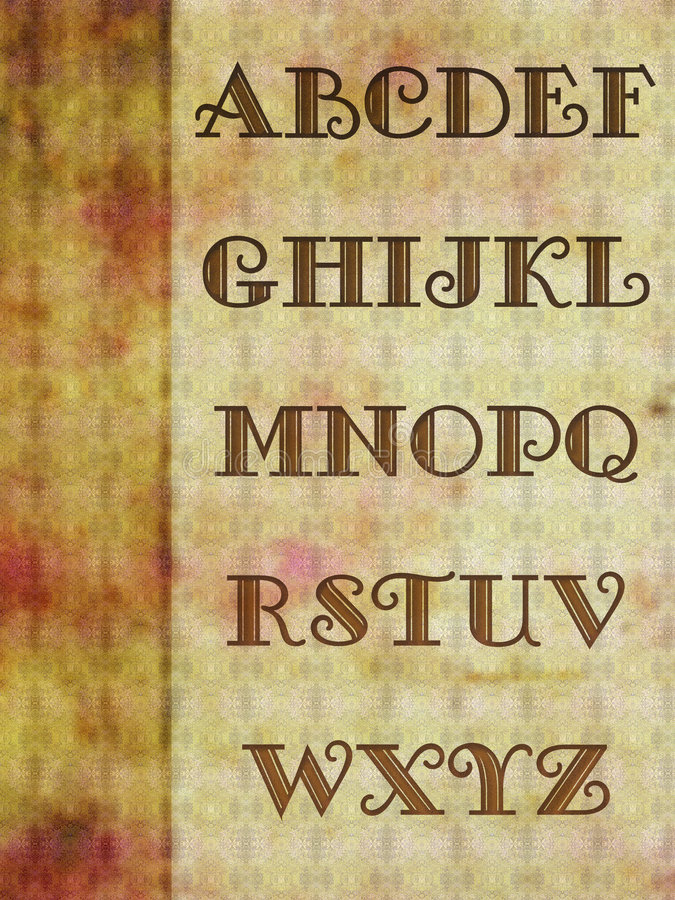 Fondo del alfabeto fotografía de archivo