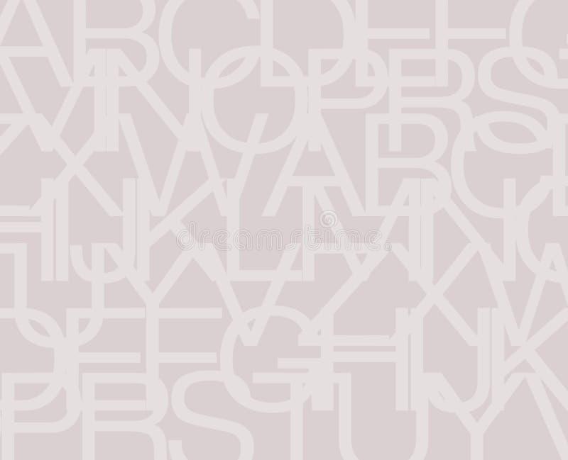 Fondo del alfabeto ilustración del vector