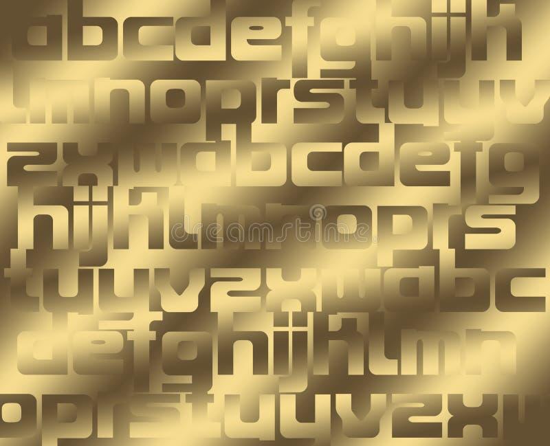 Fondo del alfabeto stock de ilustración