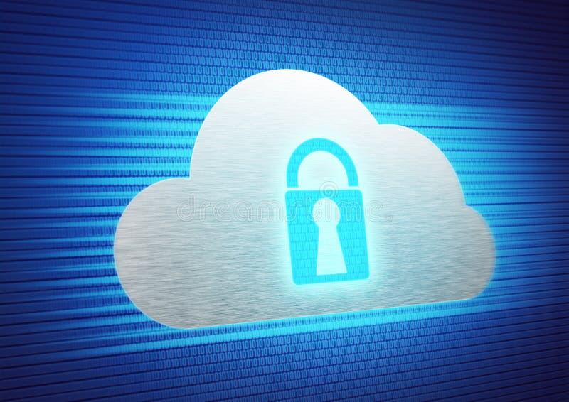 Fondo del almacenamiento de la nube imagen de archivo