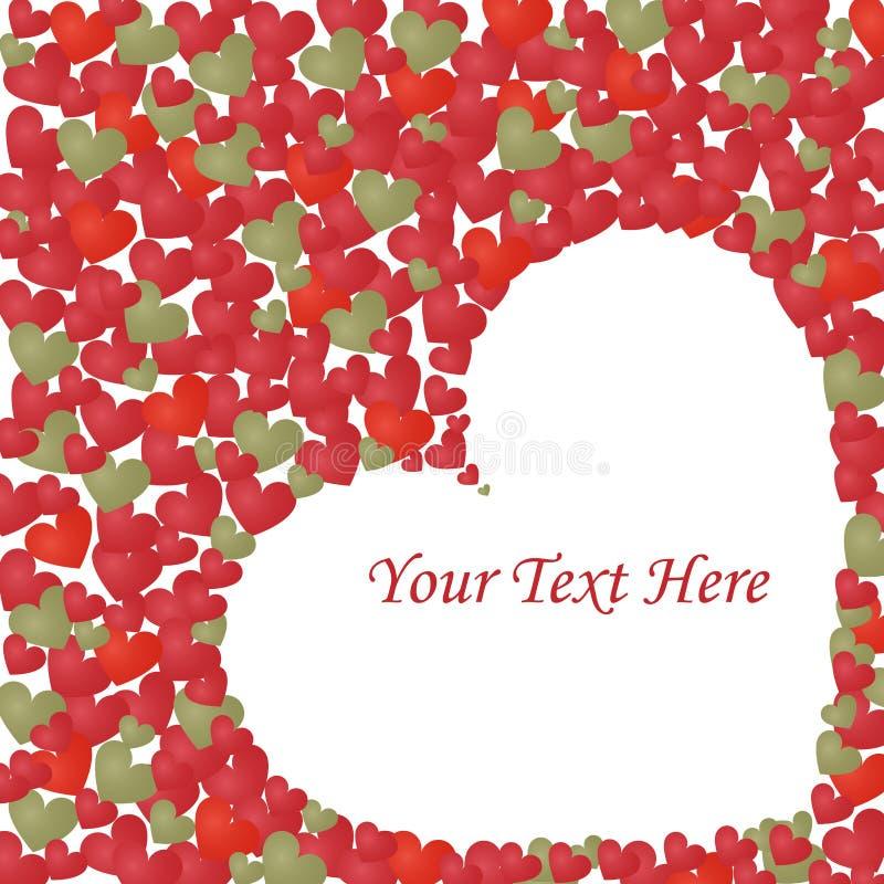Fondo del amor de los corazones - vector ilustración del vector