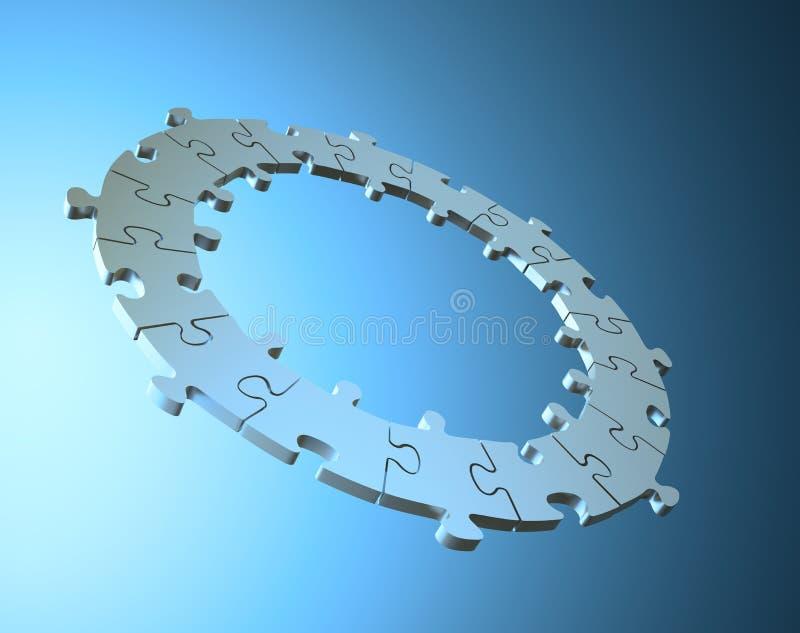 Fondo del anillo del rompecabezas ilustración del vector