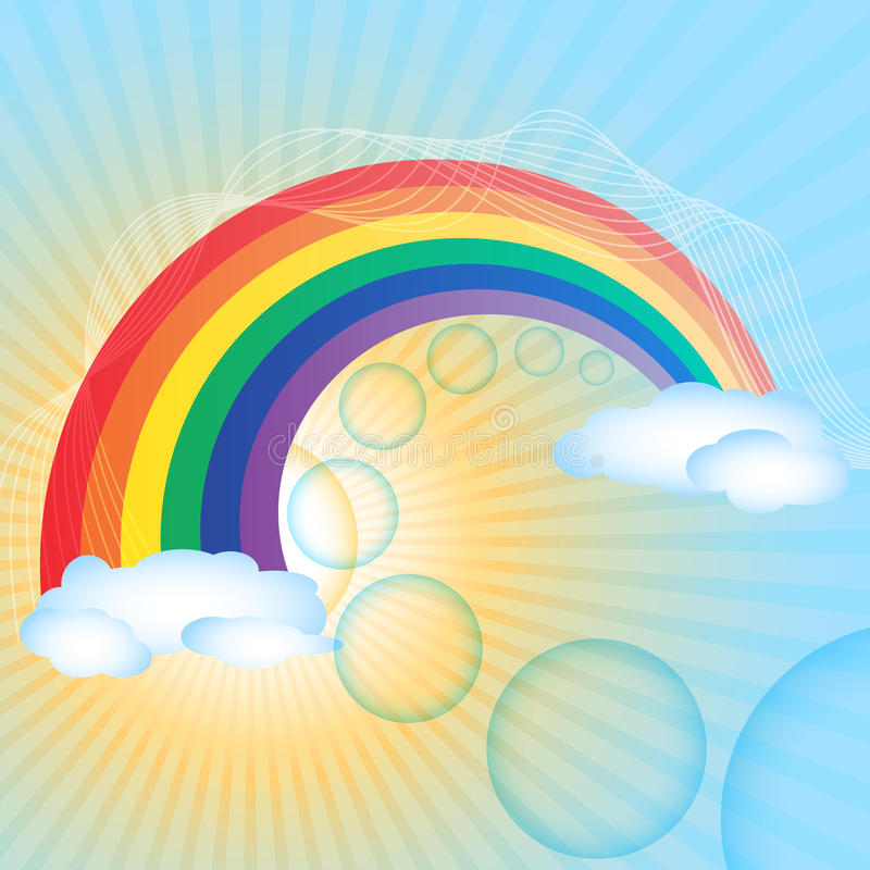 Fondo del arco iris libre illustration