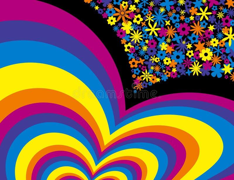 Fondo del arco iris de la flor fotografía de archivo