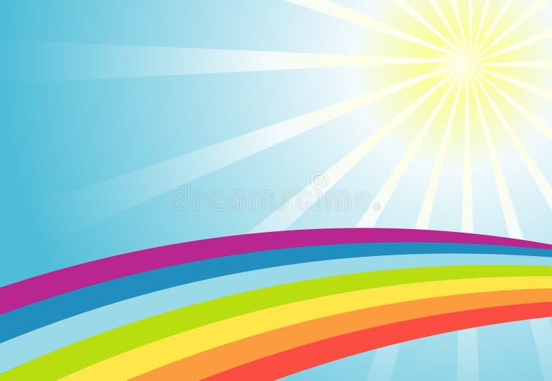 Fondo del arco iris del sol del color ilustraci n del for Fondo del sol