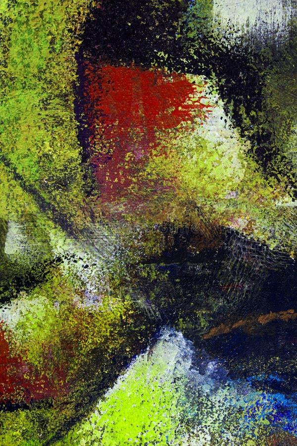 Fondo del arte abstracto Pintura al óleo en lona stock de ilustración