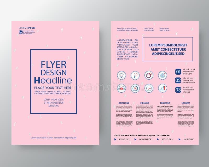 Fondo del arte de Memphis para la identidad corporativa, plantilla del vector de la disposición de diseño del cartel del aviador  libre illustration