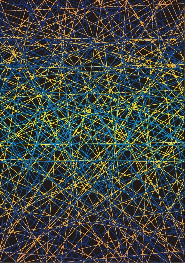 Moderno Arte De Uñas De Color Amarillo Y Azul Viñeta - Ideas Para ...