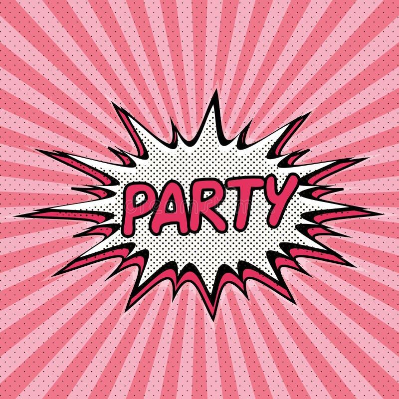 Fondo del arte pop de Patry con efecto de la explosión libre illustration