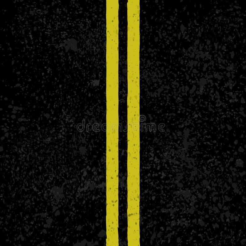 Fondo del asfalto con las líneas libre illustration
