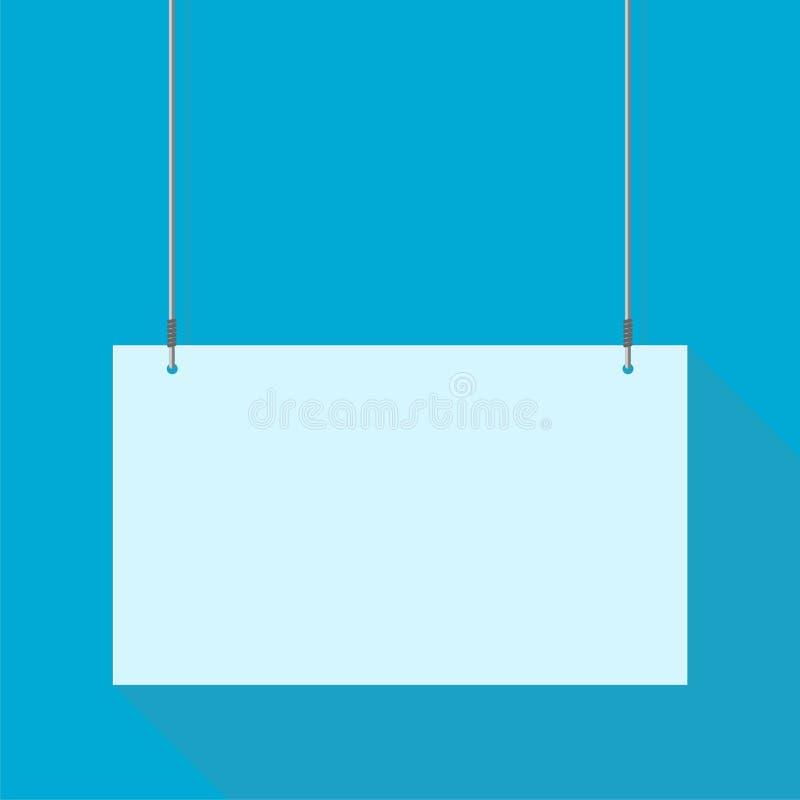 Fondo del azul de la muestra de la ejecución stock de ilustración