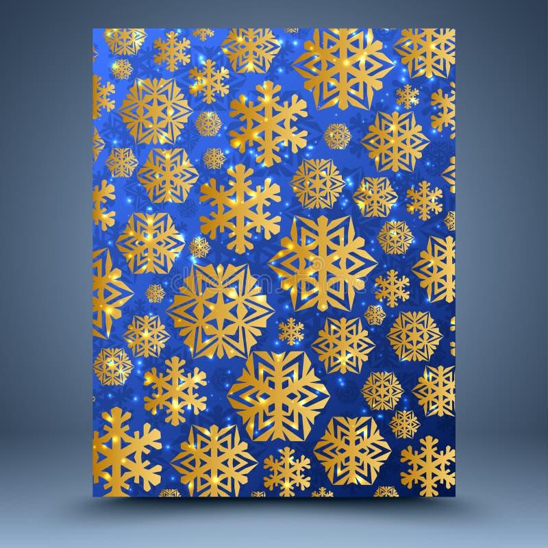 Fondo del azul de la Navidad ilustración del vector