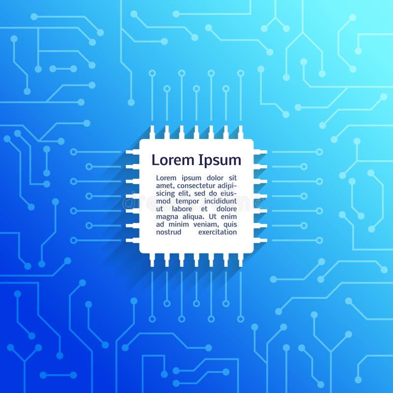 Fondo del azul de la placa de circuito libre illustration