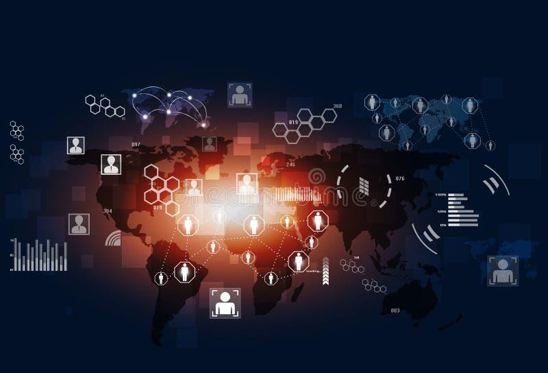 Fondo del azul de Tecnology de las comunicaciones del concepto libre illustration