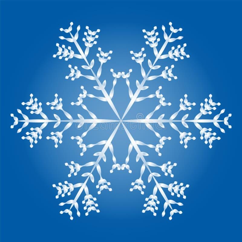 Fondo del azul del copo de nieve ilustración del vector