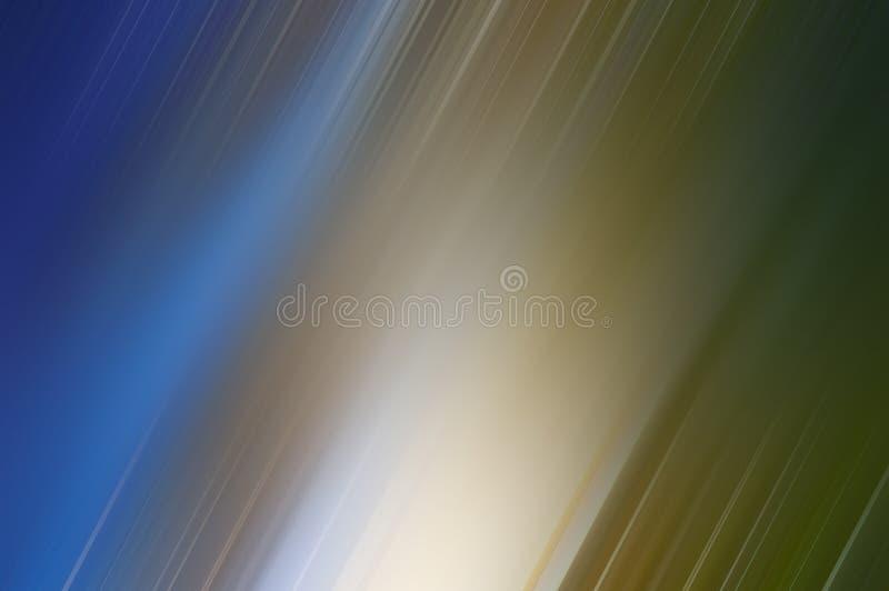 Fondo del azul y del oro que representa el movimiento stock de ilustración