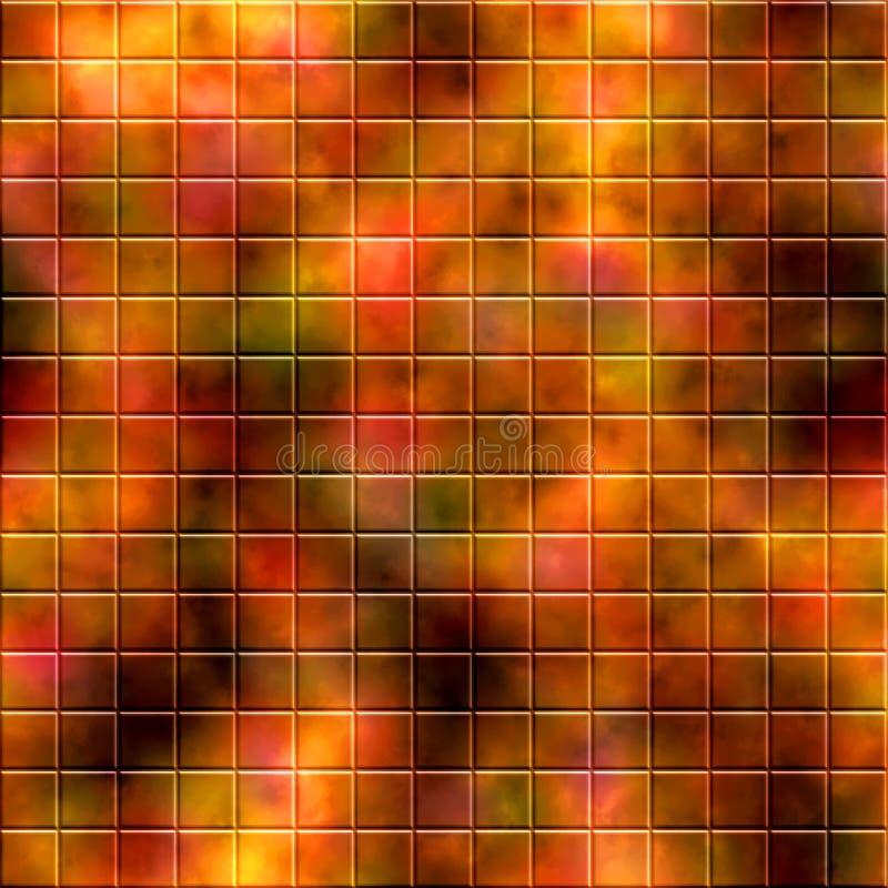 Fondo del azulejo de mosaico ilustración del vector