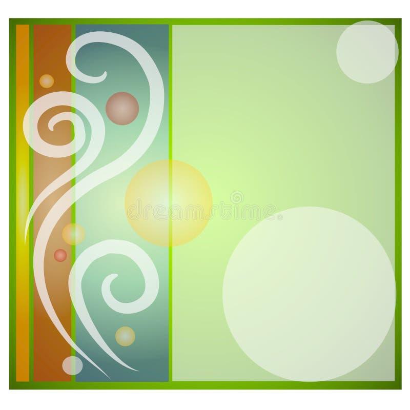 Fondo del azulejo del círculo de los remolinos stock de ilustración
