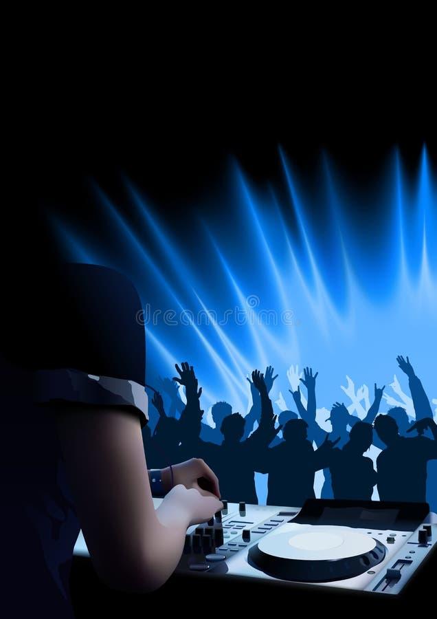 Fondo del baile de DJ stock de ilustración