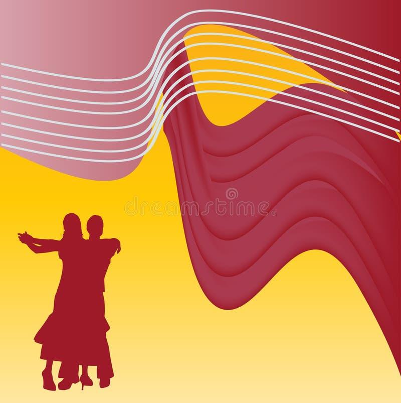 Fondo del baile de salón de baile ilustración del vector