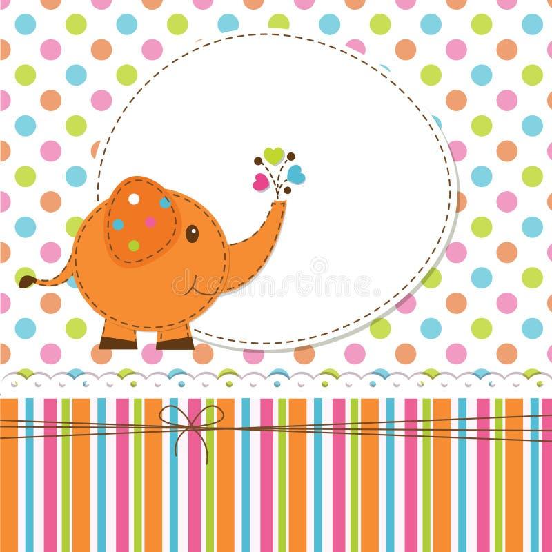 Fondo del bambino con l'elefante royalty illustrazione gratis