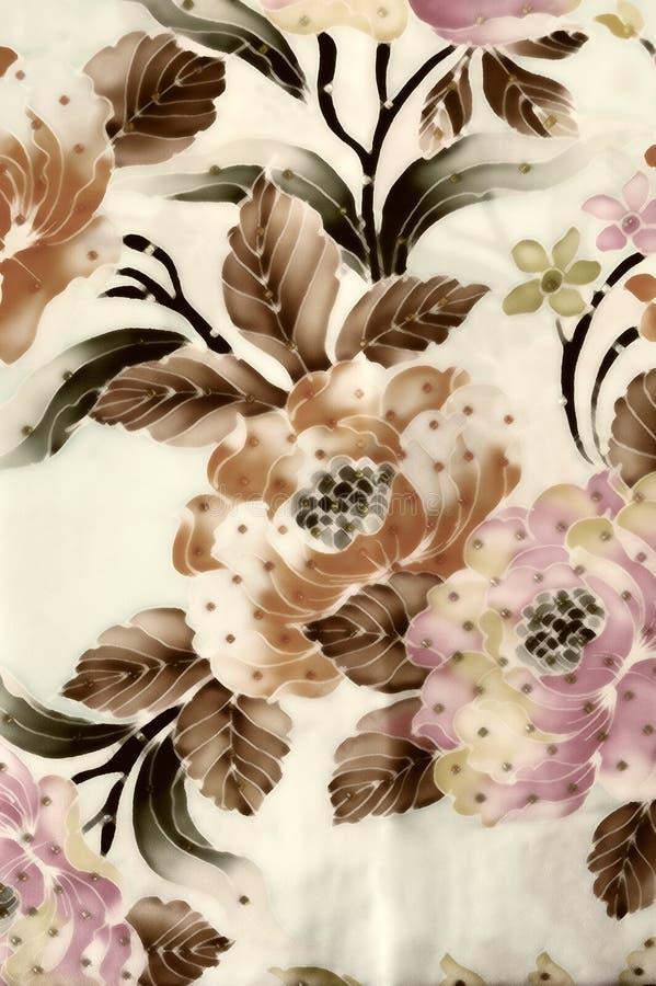 Fondo del batik con struttura del tessuto illustrazione di stock