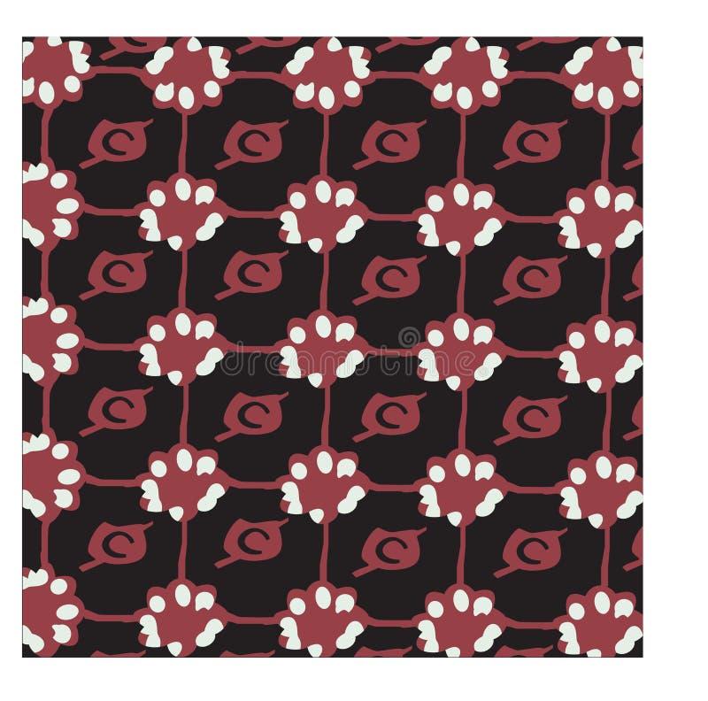 Fondo del batik de la flor de Brown libre illustration