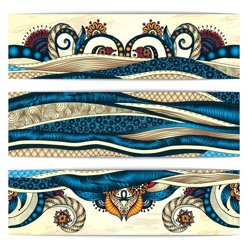 Fondo del batik de Paisley Tarjetas africanas étnicas libre illustration