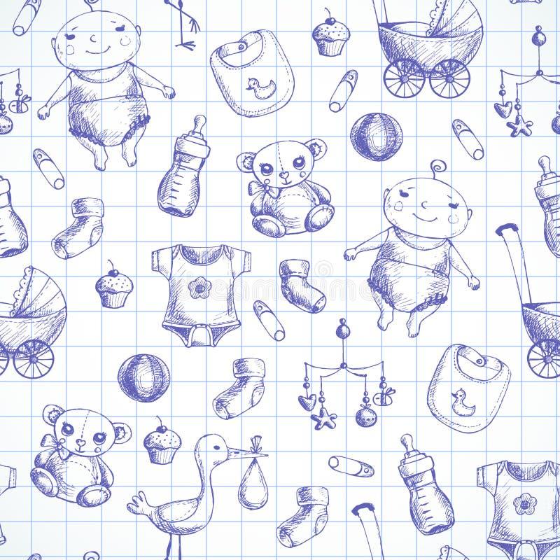 Fondo del bebé de Semless libre illustration