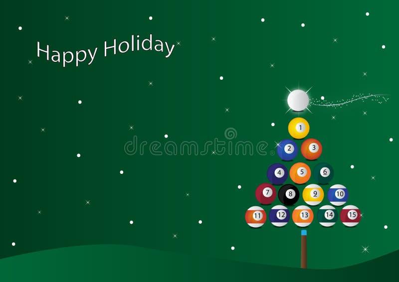 Fondo del billar de la Navidad libre illustration