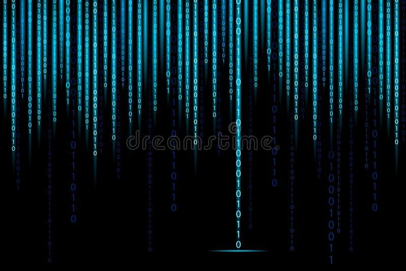 Fondo del binario de la matriz ilustración del vector