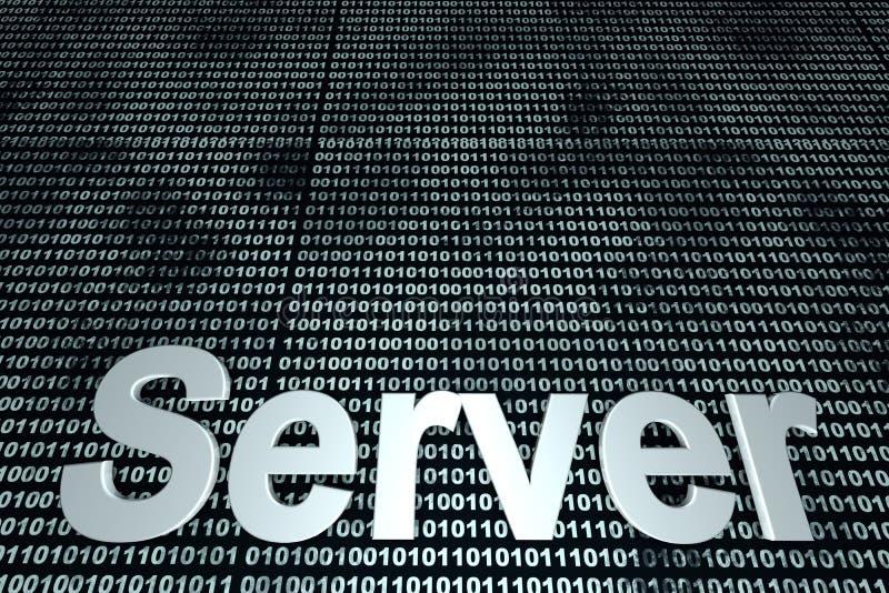 Fondo del binario del servidor imagen de archivo