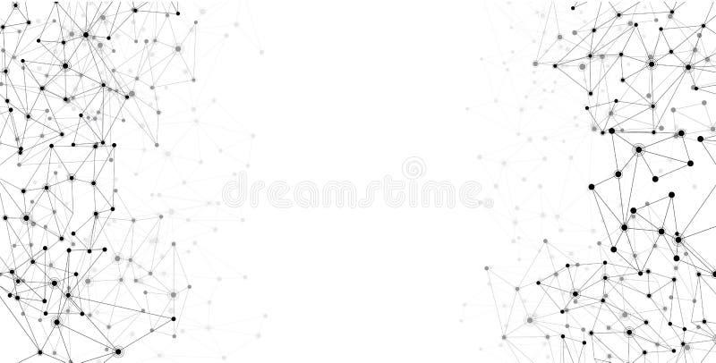 Fondo del blanco de las comunicaciones globales ilustración del vector