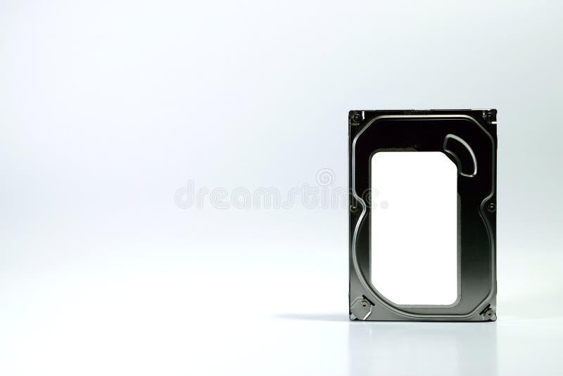 Fondo del blanco del disco duro imagen de archivo