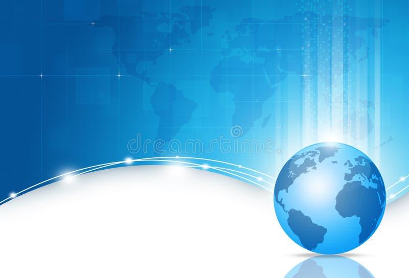 Fondo del blu del mondo degli affari royalty illustrazione gratis