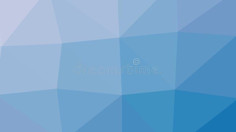fondo del blu del poligono del triangolo dell'estratto 8K illustrazione vettoriale