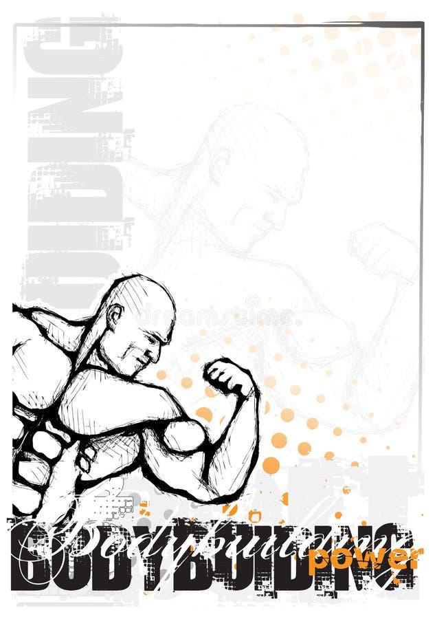 Fondo del Bodybuilding stock de ilustración