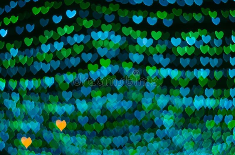 Fondo del bokeh del corazón, concepto del amor fotos de archivo