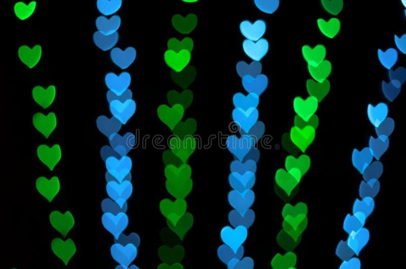 Fondo del bokeh del corazón, concepto del amor fotos de archivo libres de regalías