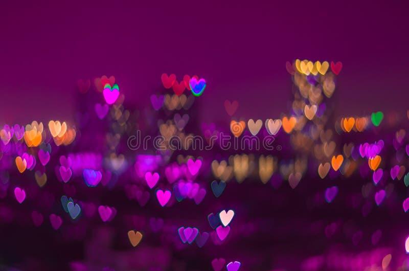 Fondo del bokeh del corazón, concepto del amor fotografía de archivo libre de regalías