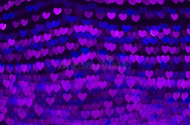 Fondo del bokeh del corazón, concepto del amor foto de archivo