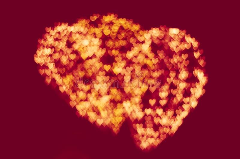 Fondo del bokeh del corazón, concepto del amor foto de archivo libre de regalías
