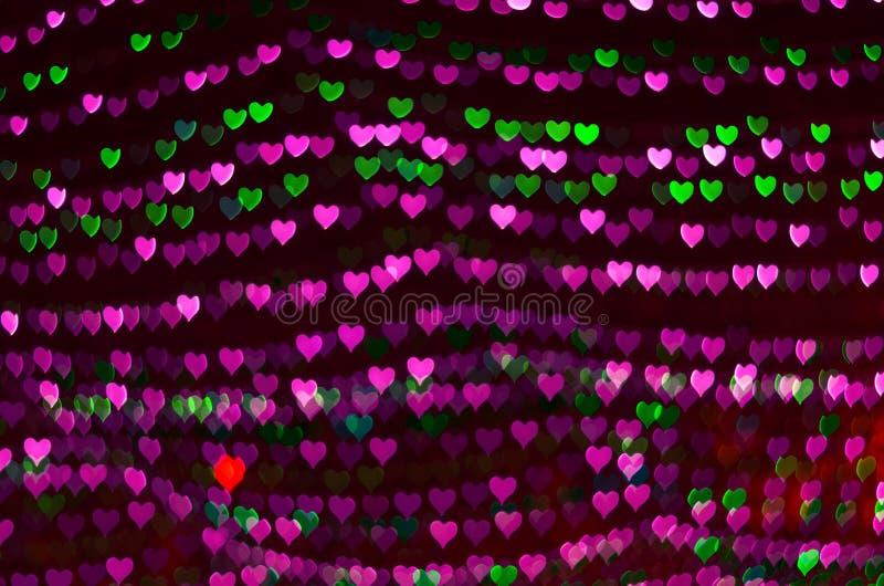 Fondo del bokeh del corazón, concepto del amor, concepto del negocio fotografía de archivo