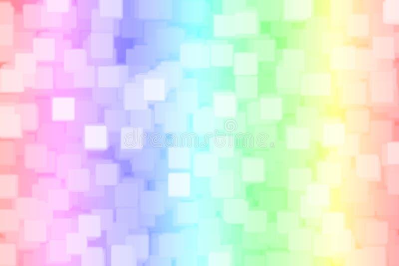 Fondo del bokeh del quadrato dell'arcobaleno vago estratto illustrazione di stock