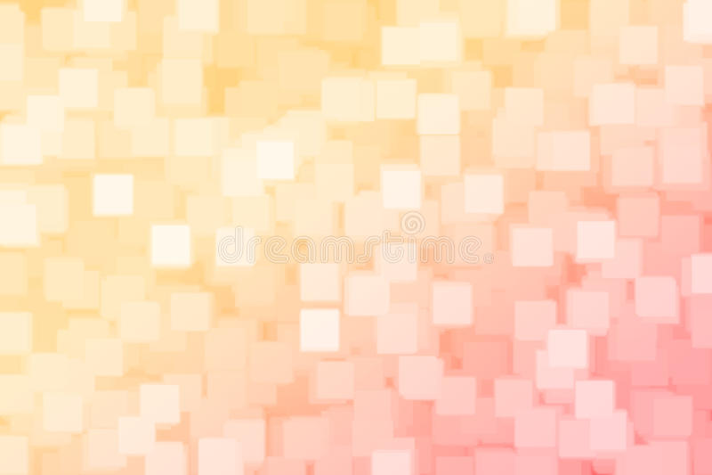 Fondo del bokeh del quadrato rosso e dell'arancia vago estratto illustrazione vettoriale