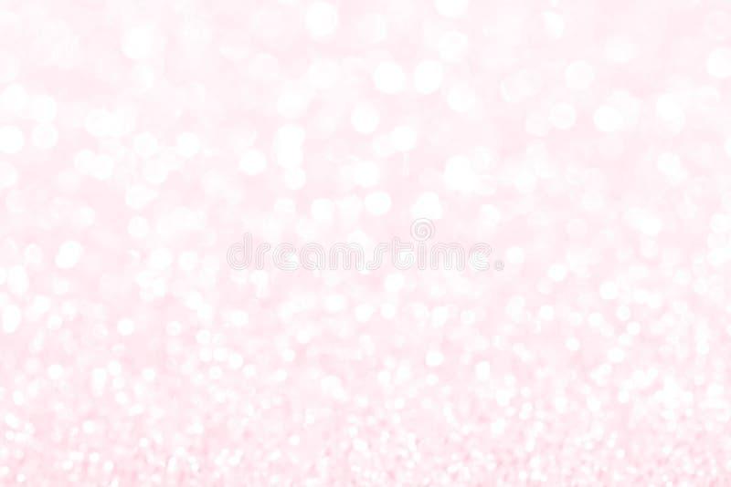 Fondo del bokeh della luce della sfuocatura di scintillio della scintilla per il giorno di biglietti di S. Valentino e gli eventi fotografia stock