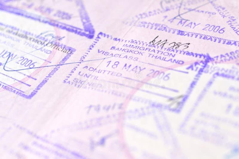 Fondo del bollo del passaporto - Bangkok, Tailandia fotografia stock