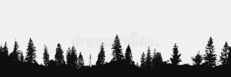 Fondo del bosque stock de ilustración