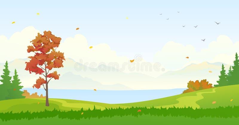 Fondo del bosque del otoño ilustración del vector